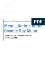 Mean Life Time of Cosmic Ray Muon