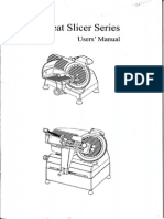 Meat Slicer User's Manual