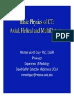 Basic Physics of CT