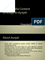 Social Media Content Strategy at Ayojak