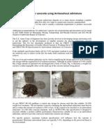 Antiwashout Admixtures for Underwater Concrete