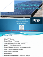MPPT Based Optimal Charge Controller in PV system