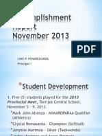 Accomplishment Report November 2013