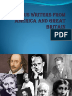 Famous Writers From America and Great Britain