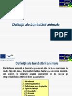 Definiţii ale bunăstării animale