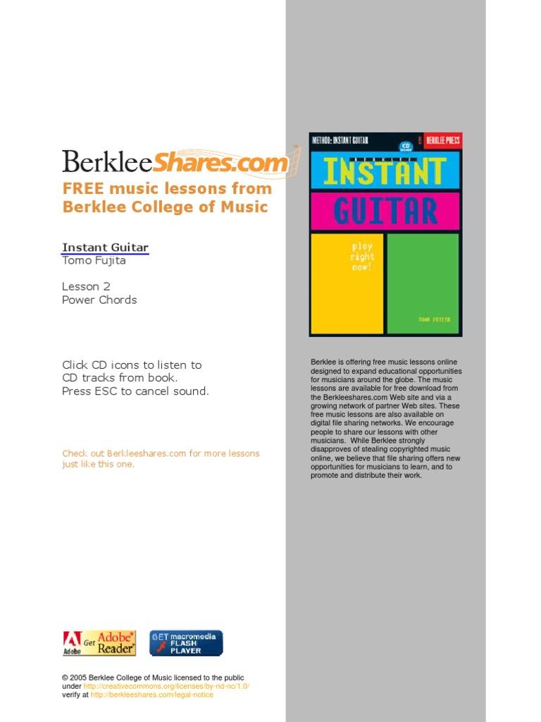 Berklee Power Chords Guitar Guitars String Instruments