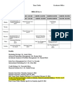 Spring Time Table 2014