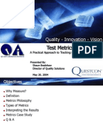Software Test Metrics QA