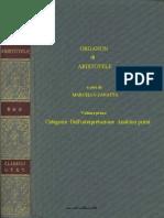 Aristotele,Organon,Vol.I,Torino,1996.