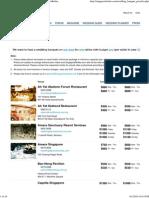 Wedding Banquet Price List 2014-2015