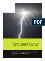 National Meteorological Library and Archive Fact sheet 2 — Thunderstorms