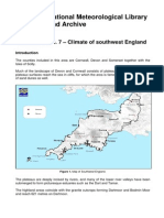 National Meteorological Library and Archive Fact sheet 7 – Climate of southwest England