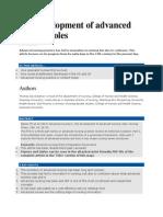 JOURNAL the Development of Advanced Nursing Roles