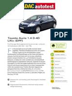 Toyota Auris 1 4 D 4D Life DPF