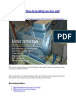 Motor Protection and voltage control