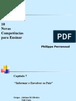 Competência 7- Philippe Perrenoud