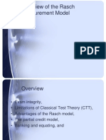 Overview of the Rasch Measurement Model JR