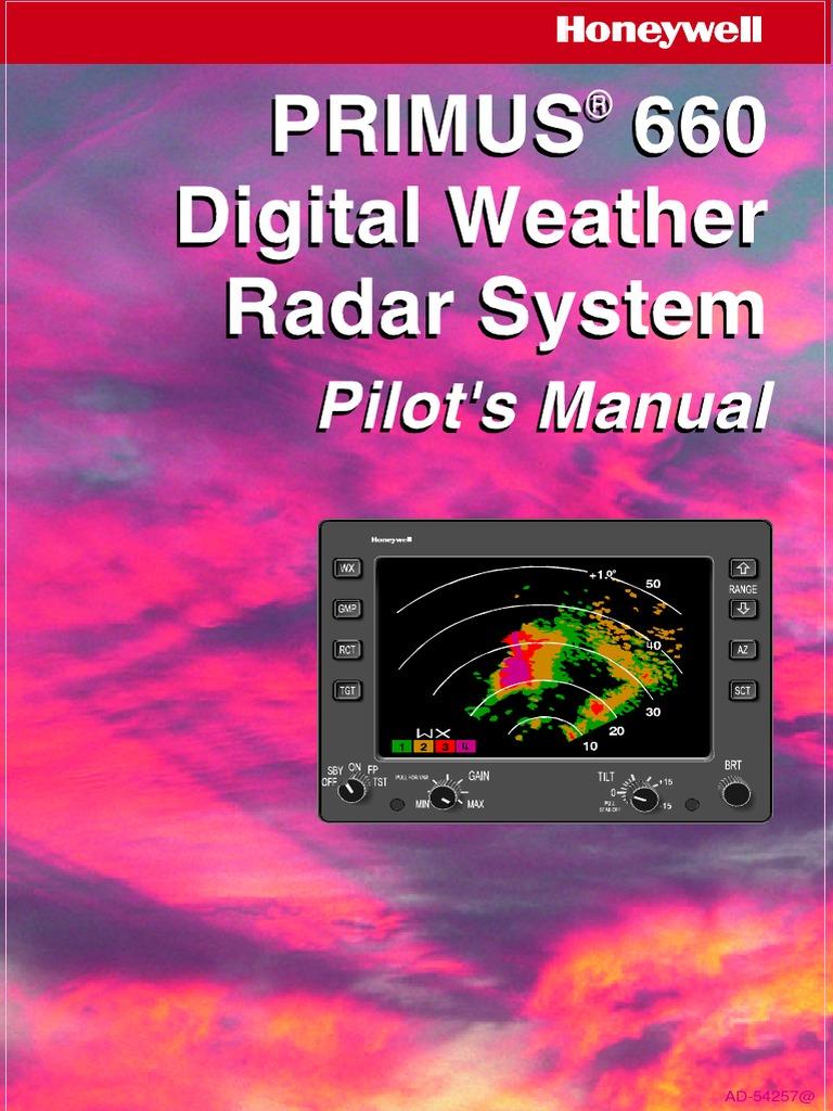 Weather Radar Manual | Radar | Electronics