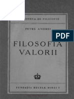 P.andrei,Filosofia Valorii,Buc.,1945.