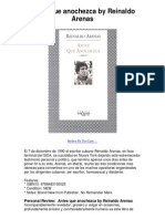 55574071 Antes Que Anochezca by Reinaldo Arenas 5 Star Book Review