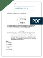 Accidentología II trabajo modelo de calculo para accidentes