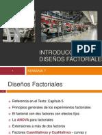 INTRODUCCION A LOS DISEÑOS Factoriales