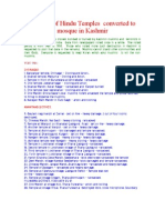 The List of Hindu Temples Converted to Mosque in Kashmir