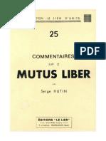Hutin Serge Commentaire Sur Le Mutus Liber