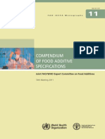 Compendium of Food Additive Specifications - Joint FAOWHO Expert Committee on Food Additives 74th Meeting 2011