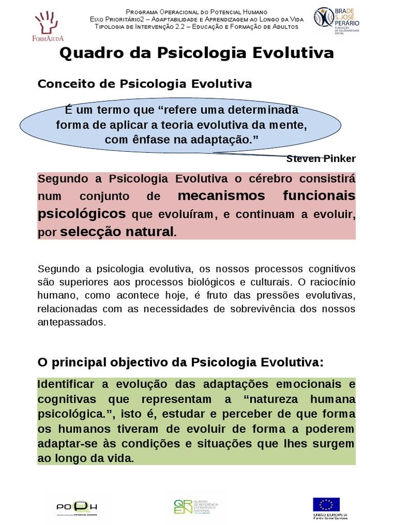 Psicologia Evolutiva E Velhice Psicologia Humano
