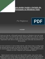 Mudando o Idioma Do Teclado No Windows Vista