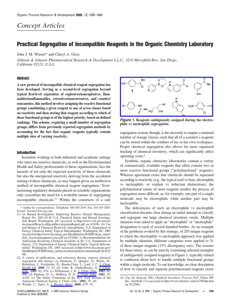 Separation of reagents pdf | Dangerous Goods | Amine