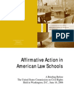 Affirmative Action in American Law Schools