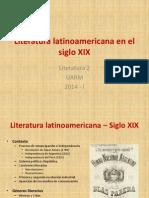 Literatura Latinoamericana en El Siglo XIX - 2014 - I