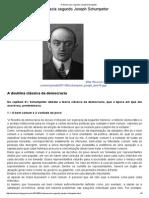 A Democracia Segundo Joseph Schumpeter