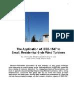Small Wind Generators, IEEE 1547