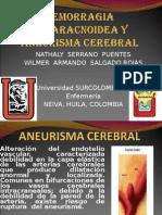 Hemorragia Subaracnoidea y Aneurisma Cerebral