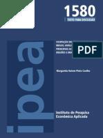 Ocupação do setor de turismo no Brasil - Análise da ocupação nas princiáis ACTs nos Estados, regiões e Brasil