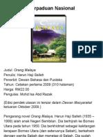 Perpaduan Nasional Orang Malaya