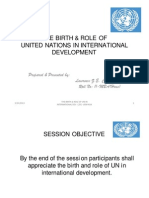 The Birth and Role of United Nations in International Development. By Lawrence Z.E. Chinkhunda