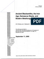 Ancient Blacksmiths, the Iron age, Damascus steels and modern Metallurgy