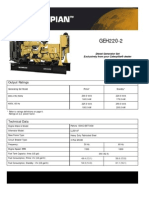 Caterpillar Olympian GEH 220-2- Technical Sheet