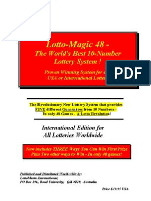 Lotto-Magic 48 -: The World's Best 10-Number Lottery System !