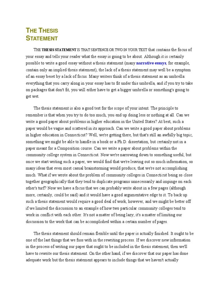 Analyzing organization of an essay
