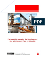 11. Pre-Feasibility Study for the Development of a Mini Cement Plant in Colombia