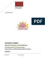 Concept Paper Social Inclusion AADHAR