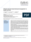 Clinical-Outcome-based Demand Management in Health Services
