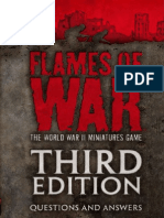 Flames of War Third Edition q and a April 2012