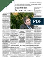 Entrevista a Ricardo Oliván, consejero de sanidad de la DGA, en Heraldo de Aragón (9/2/2014)