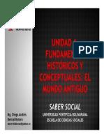 Unidad 1 Fundamentos históricos y conceptuales - El Mundo Antiguo (Avances)